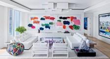 Beyaz Salon Dekorasyonu Ve Uyumlu Renkler