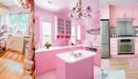 Pembe Renk Mutfak Dekorasyonları